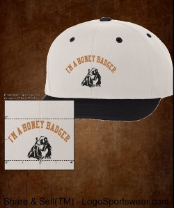 I'm a Honey Badger Cap Design Zoom