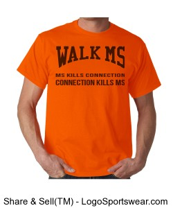 Walk MS t-shirt customizable Design Zoom