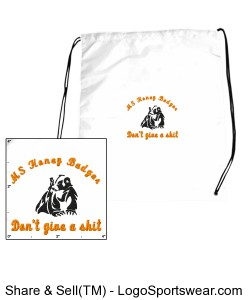MS Honey Badger Drawstring Sport Pack Design Zoom