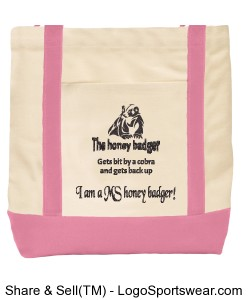 "W/P ""I am a MS honey badger"" Ensigns Boat Bag Design Zoom"